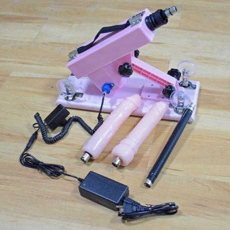 Pink Automatic Masturbator Sex Machine with Super Big Dildo and Anal Masturbation Fuck Machines for Men and Women Sex Toy -Set A
